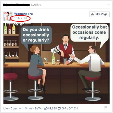 humorous facebook post